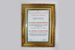 ASHANTI BUSINESS LEADERS AWARD SPECIAL GOLD AWARD